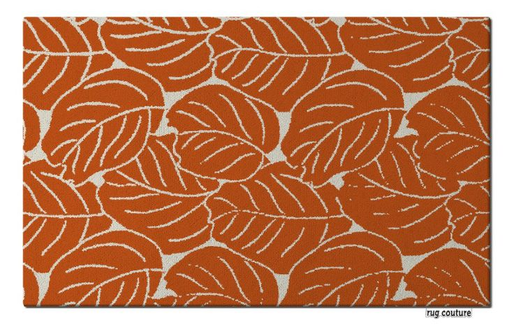 collected leaves rug - Customisable hand tufted luxury wool rug by rug couture