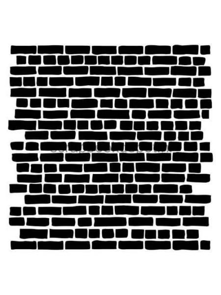 Scrapberry\'s Stencil Brickwork 15,2x15,2cm