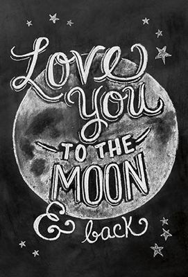 Greeting Card - To The Moon