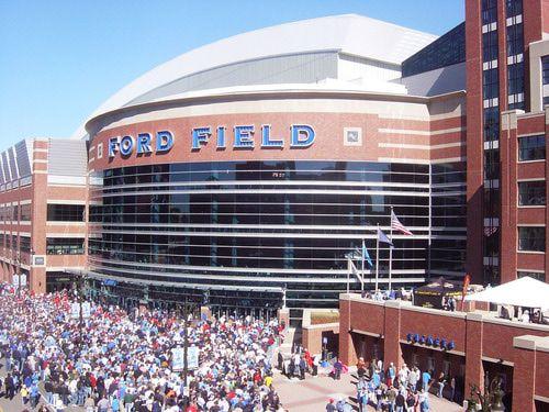 Ford Field in Detroit, Michigan Lions Game. We love our team!