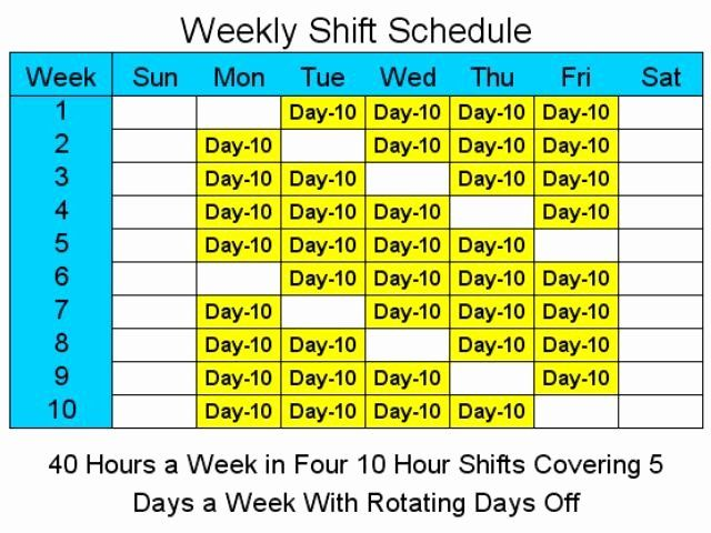 8 Hour Shift Schedule Template Luxury 8 Hour Rotating Shift Schedule Template Free Schedule Template Shift Schedule Day Schedule