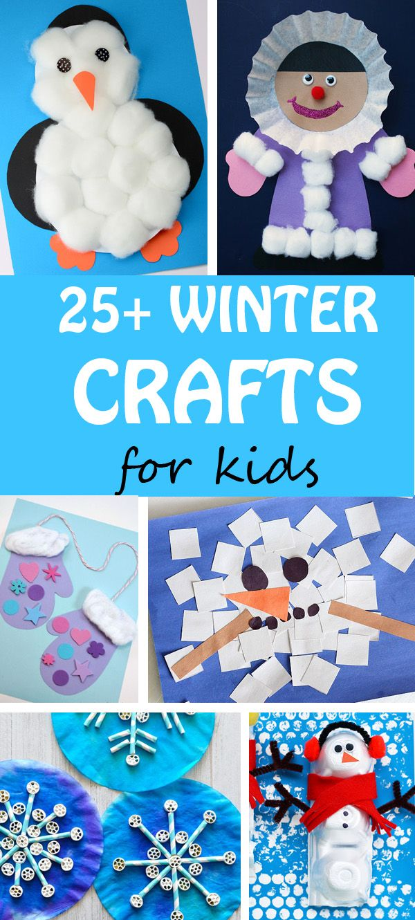 25+ Winter crafts for kids. Easy penguin, Eskimo, snowflake, snowman, mitten crafts and more. | at Non-Toy Gifts
