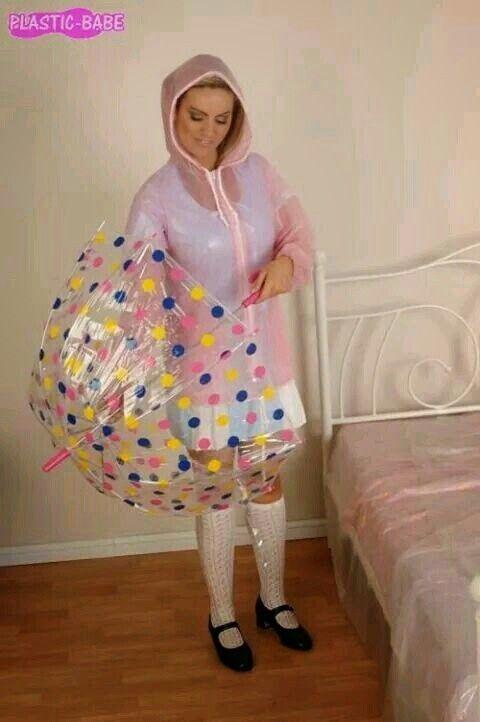 Pink Plastic Mac Pvc Raincoat Plastic Raincoat Clear