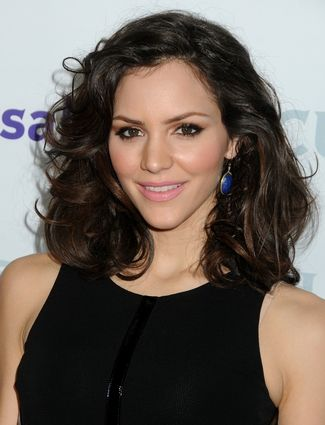 Katharine McPhee's Romantic Hairstyle with large curls that are messy, yet polished