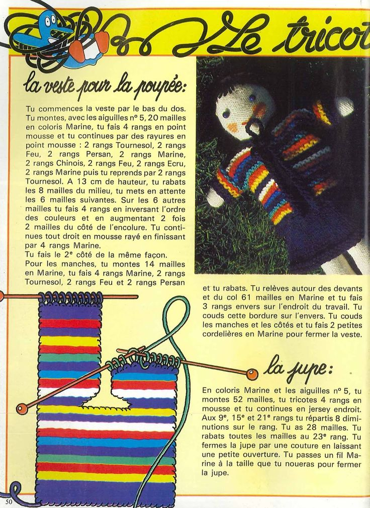 Pingouin N°9 été, summer 70's pull tube, chale, tricot crochet free pattern, femme , enfant, homme, poupée de chiffon