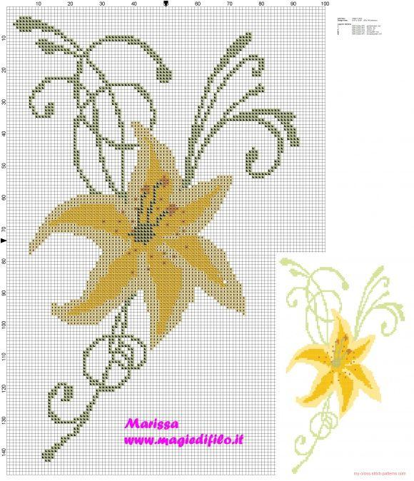 yellow_lily_stylized-t2.jpg (580×674)