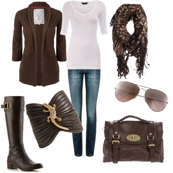 Minus the lizard! Ha!: Color, Bracelets, Jeans, Fall Looks, Leather Cuffs, Chocolates Brown, Fall Outfit, Lizards, Boots