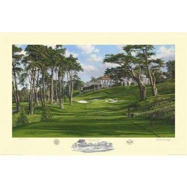 8th Hole, Lake Course, The Olympic Club http://www.golfcourseartwork.com/golf-prints/us-open/8th-hole-lake-course-the-olympic-club