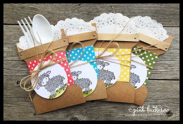 Easter Lamb Table Setting featuring Easter Lamb by Stampin' Up @Pink Buckaroo Designs