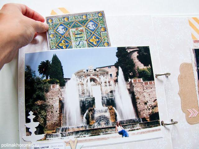 Polina Khoronko: Альбом о летних путешествиях.  Италия. Travelbook - Italy #srapbooking