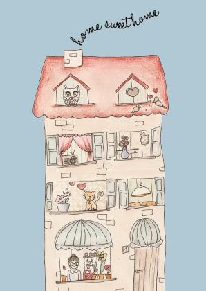 home sweet home illustration by bodesigns