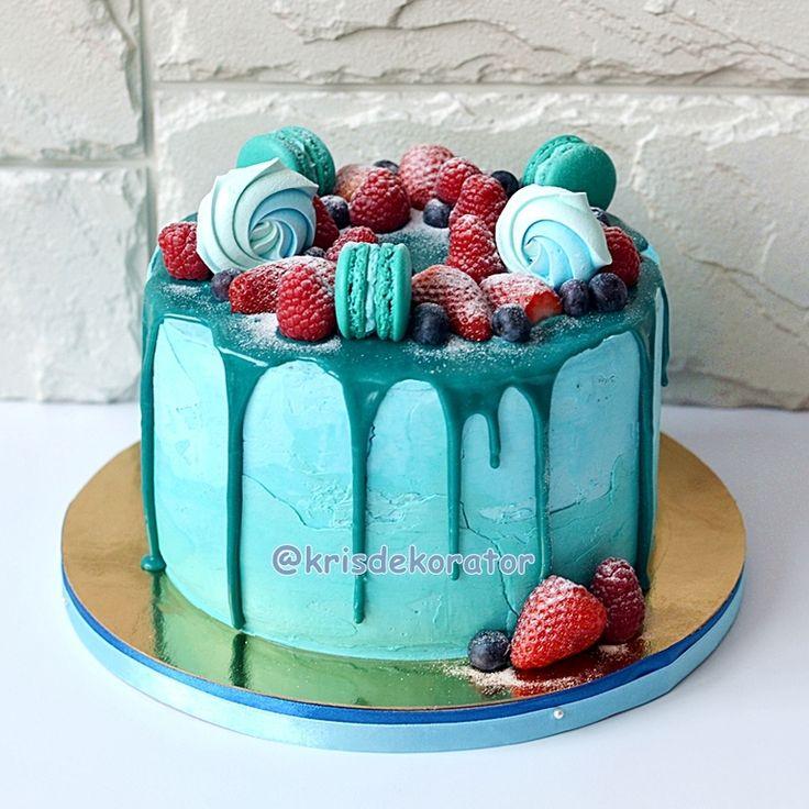 Украшение тортов кремом, шоколадом, фруктами