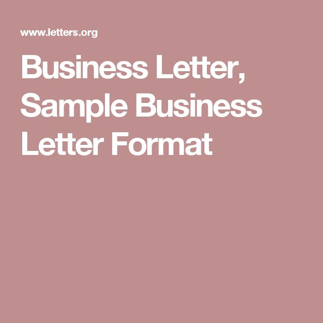 Business Letter, Sample Business Letter Format