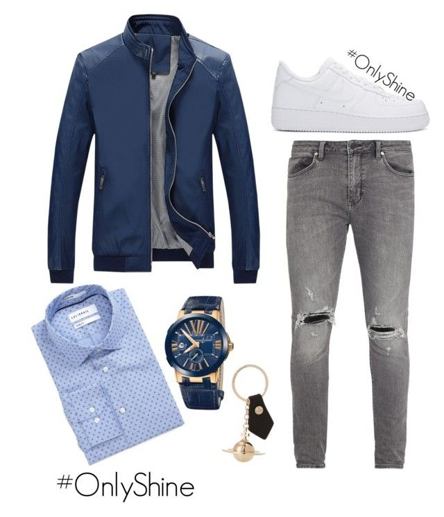 BlueLove by onlyshinerd on Polyvore featuring polyvore Calibrate Neuw NIKE Ulysse Nardin Vivienne Westwood men's fashion menswear clothing