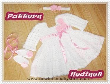 Crochet Baby Dress Crochet baby red dress pattern 0-4 years | Craftsy...