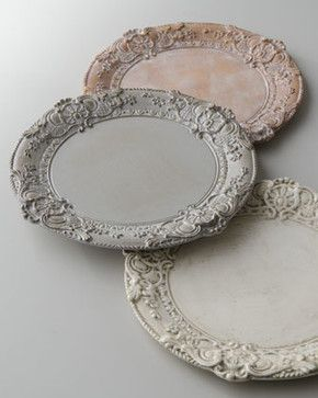 Baroque Charger Plate traditional-charger-plates