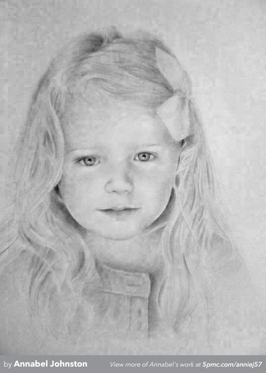 A graphite pencil drawing by annabel johnston to see more visit www 5pmc