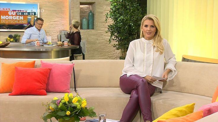 Jennifer Knäble German Presenter Leather Pants 21.11.2016