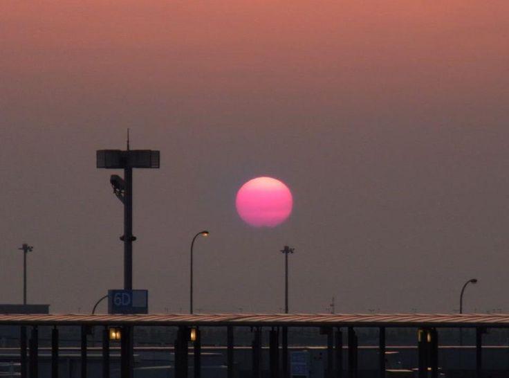 KIX 関西国際空港の夕陽