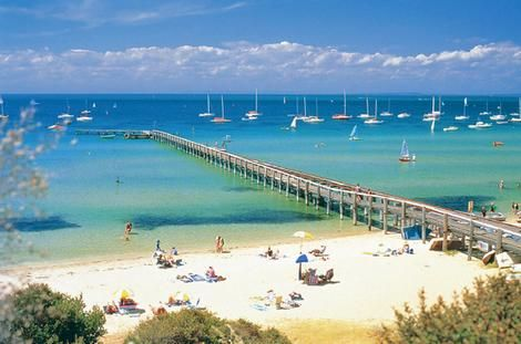 Sorrento Beach, Melbourne Australia. A popular spot in Summer. We're almost there!!!