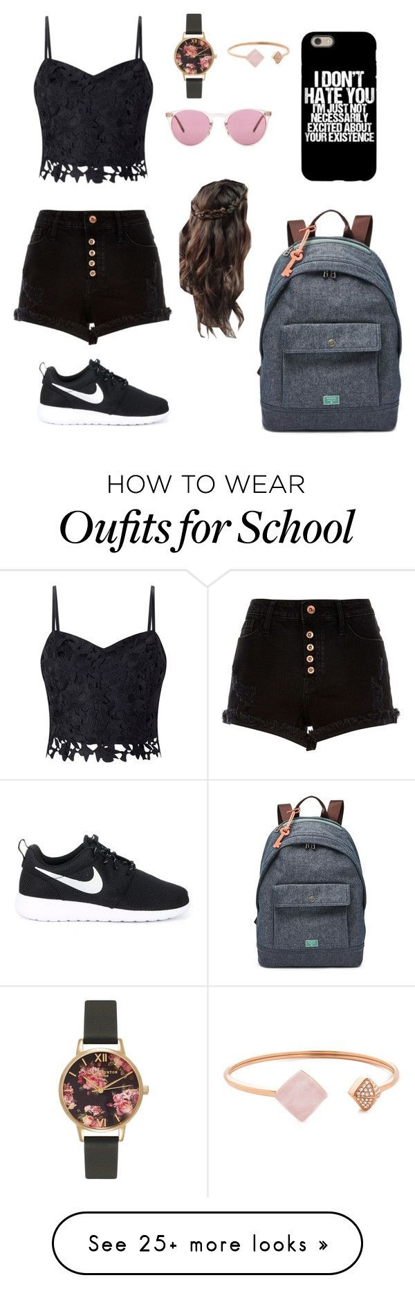school goals by fashion-bubble on Polyvore featuring Lipsy, River Island, Olivia…