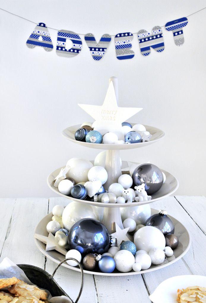 miss red fox - Adventsetagere als Minitannenbaum - Advent decoration as a mini Christmas tree