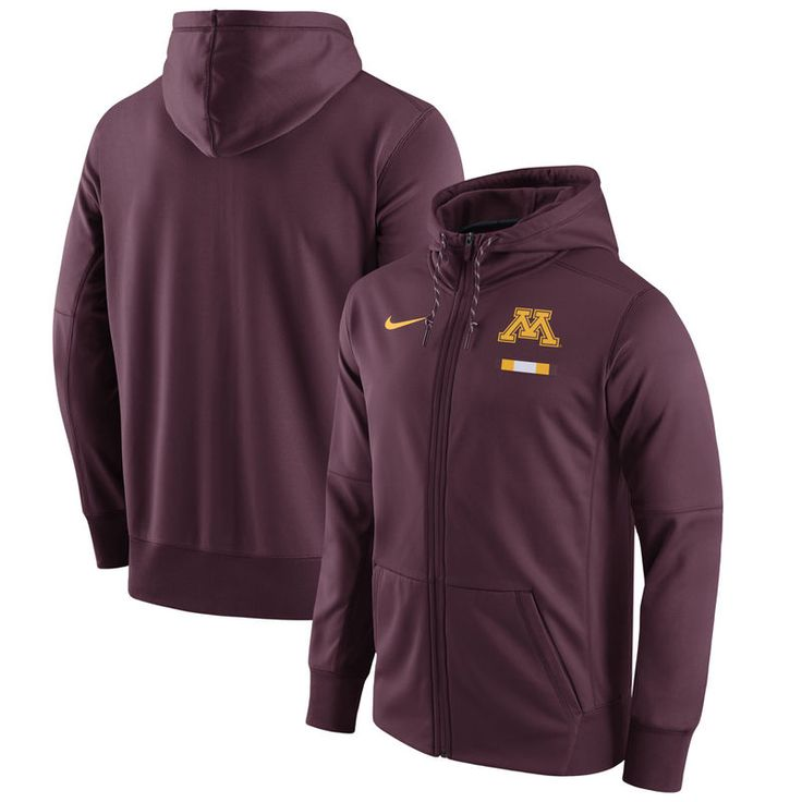 cf54728d7 Minnesota Golden Gophers Nike 2017 Player Sideline Therma-FIT Full-Zip  Hoodie - Maroon | Products | Full zip hoodie, Hoodies, Red hoodie