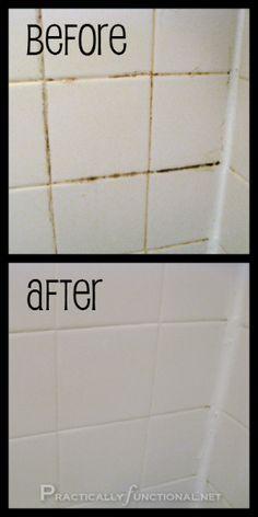 Cómo limpiar la lechada con un limpiador hecho en casa Grout - La receta simple es sólo el bicarbonato de sodio y cloro!