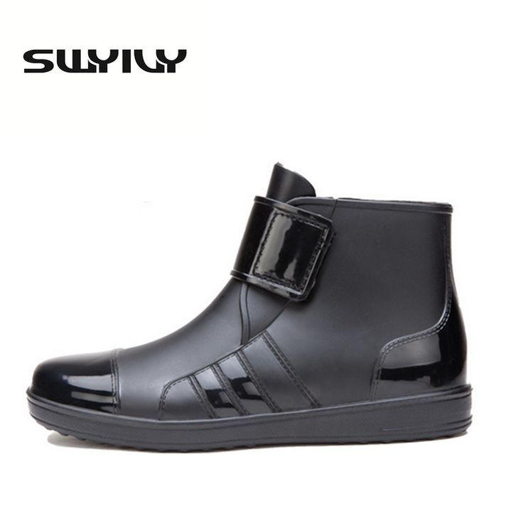 2017 Men Pure Color Rain Boots Outdoor Fashion 39-44 Plus Size Fishing Boots For Male Hot Sale Waterproof Short Boots
