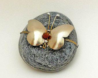 Butterfly paperweight, Art Sculpture Figure,Office Desk Accessory,Office Desk Decor,Home Decor,Pebble paperweigh,Pebble Art,Gift idea