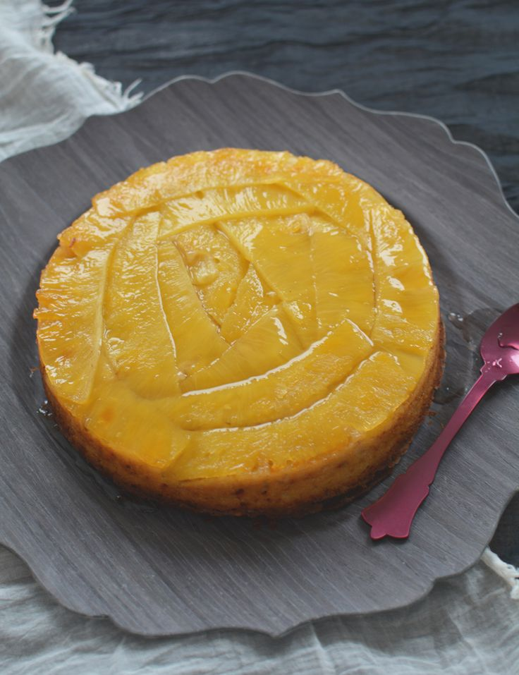 gingery pineapple upside-down cake