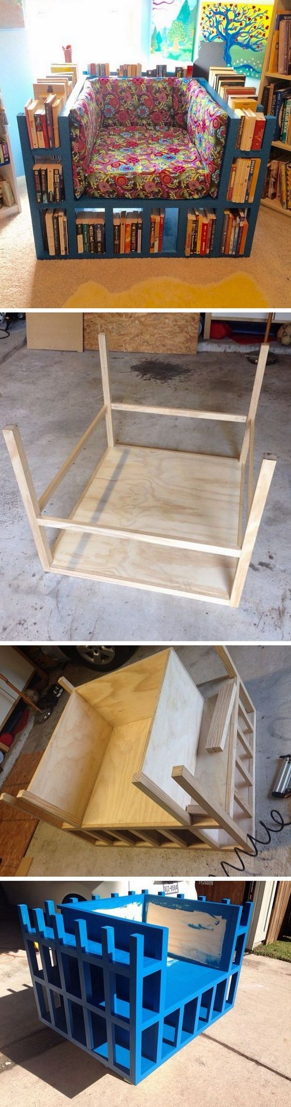 Check out the tutorial how to make a DIY bookshelf chair for home decor @istandarddesign