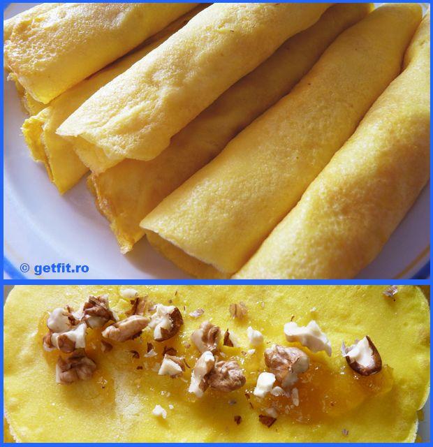 Doua variante de clatite fara gluten si fara zahar.