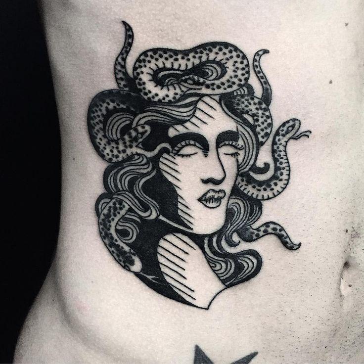 "101 Likes, 3 Comments - Ralf Mann (@ralfmann) on Instagram: ""Medusa on this dude's belly  #ralfmann #ralfmanntattoo #manntattoo #psychedelic #blackwork #tattoo…"""
