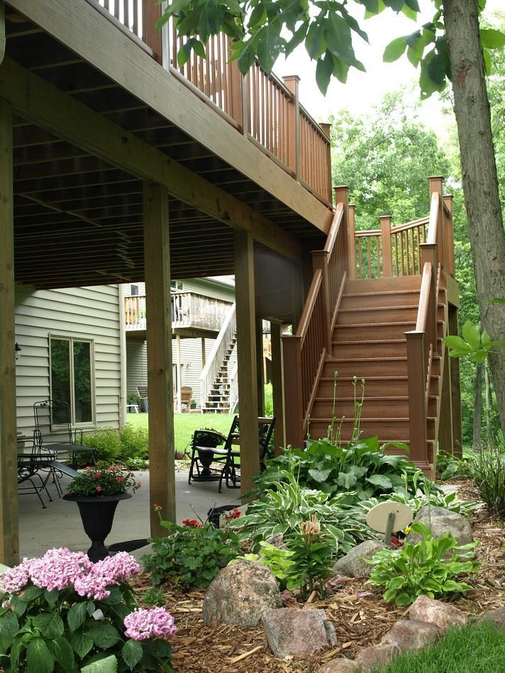 Under Deck Patio Google Search Landscape Ideas Decks Landscaping