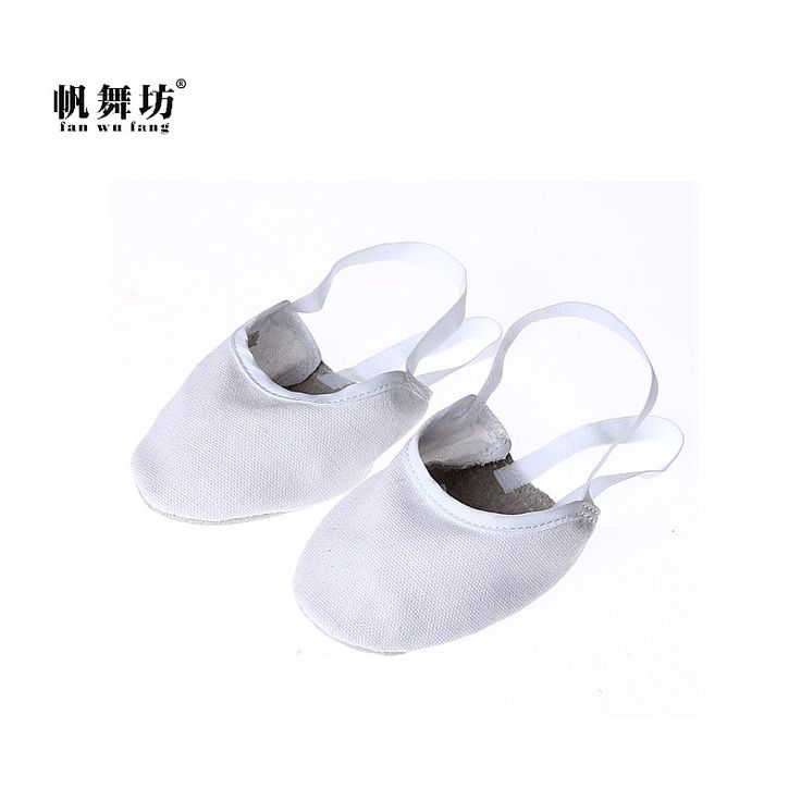 fan wu fang 2017 New Arrival White Canvas Half Shoes Artistic Gymnastics Shoes Gym Shoes Fitness Shoes According The CM to Buy