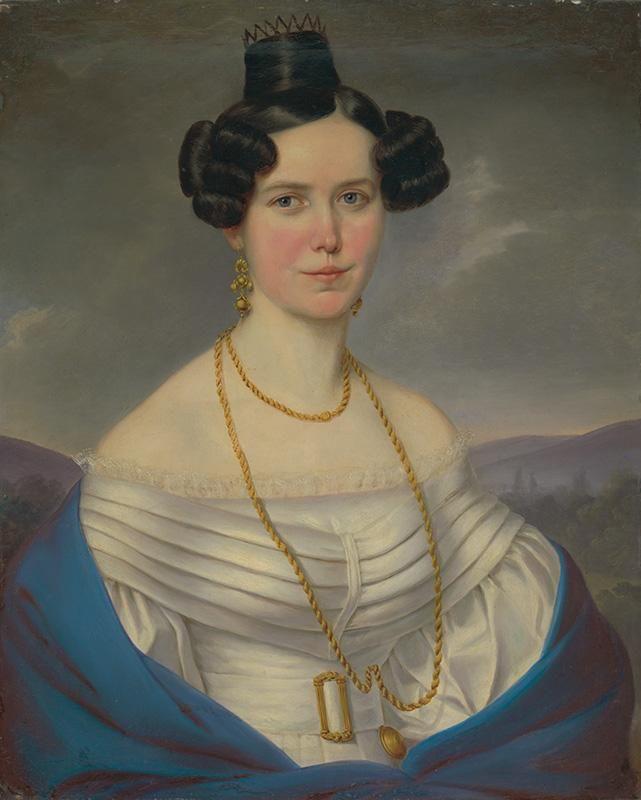Портрет женщины в белом платье Bratislava художник о первой трети 19-го века