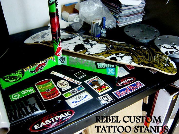 Custom Tattoo Arm Rest Bases by Rebel Custom Tattoo Arm Rests www.rebelcustomtattooarmrests.com