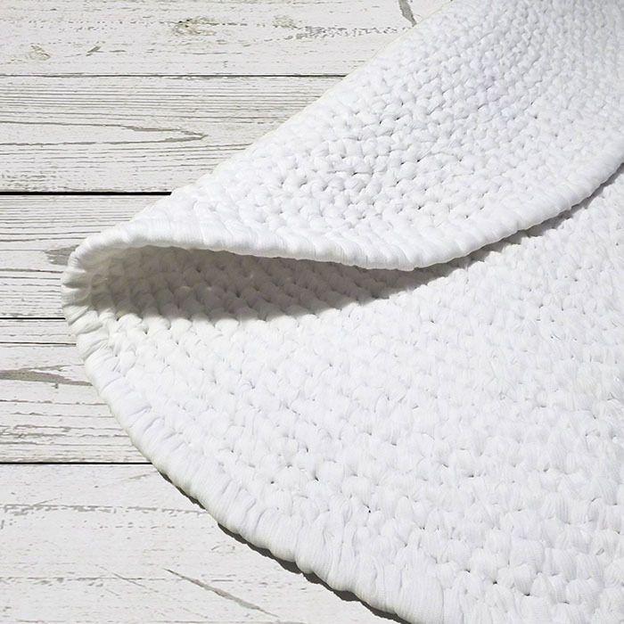Купить Белый ковер ручной работы - коврик, ковер, круглый коврик, круглый ковер