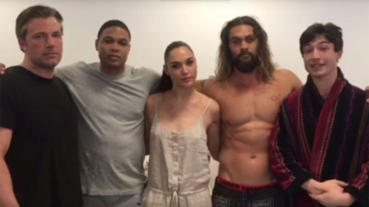 'Justice League' Cast Unites in Video to Combat Real-World Problem Ben Affleck Gal Gadot Ray Fisher Jason Momoa and Ezra Miller are hoping to help block a pipeline in North Dakota. read more