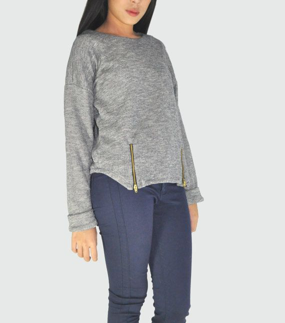 Simple Grey Sweater by anyonethelabel on Etsy