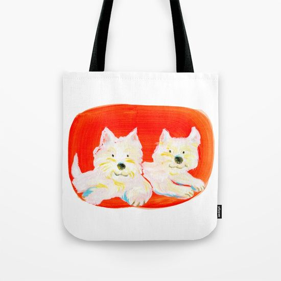 2 Dogs Tote Bag by Shihotana