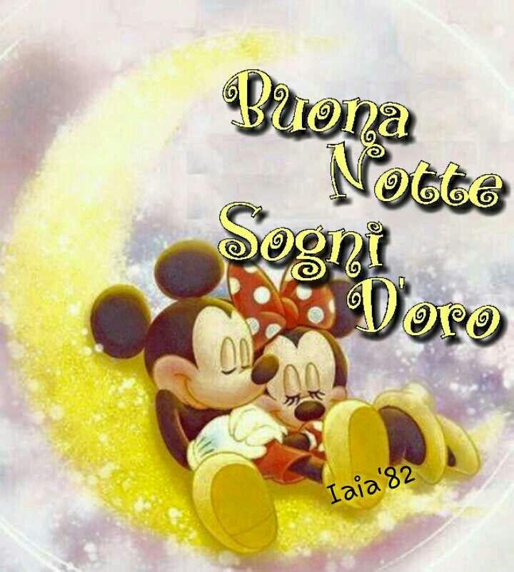 Buonanotte, sogni d'oro, Disney, topolino, minnie, mikey mouse
