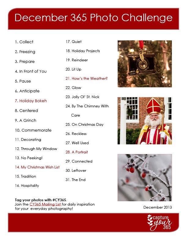 December CY365 Photo Challenge List