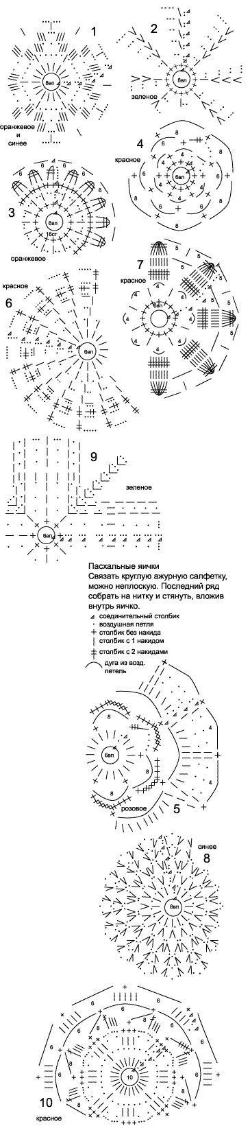 вязаные колокольчики схемы -