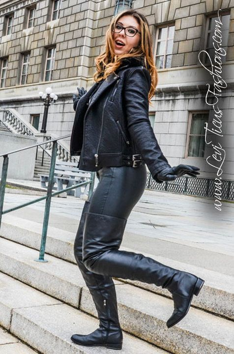 Image Gallery Modeling My High Rize Leather Thigh Boots