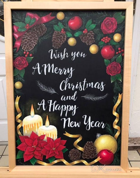 CUSTOM-MADE Chalk Art Sign Board