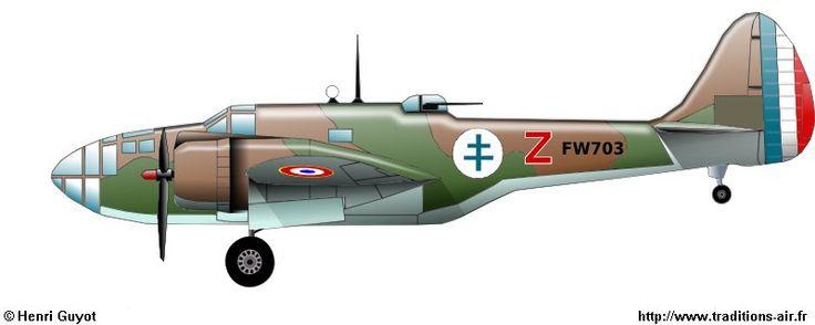 Glenn Martin 187 Baltimore (FW 703) - GB I/17 Picardie - Damas - 1945.