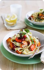 Roast Vegetable Pasta. Another healthy recipe from the Heart Foundation.