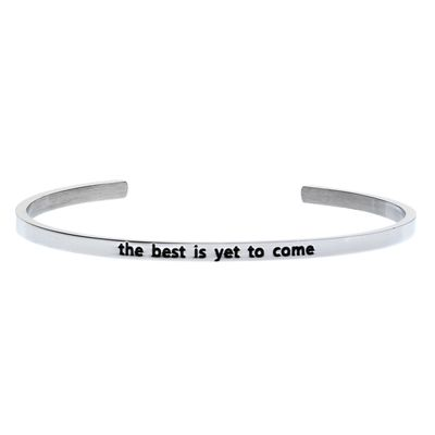 'The best is yet to come' #LilyAnneDesigns #bracelet #inspiration #Silver